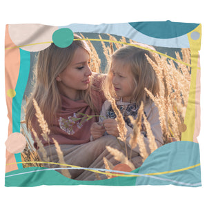 Warm Comfy Personalized Blanket - Upload Your Own Photo!-Blanket Template-PureDesignTees