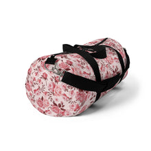 Load image into Gallery viewer, Pink Floral Duffle Bag-Bags-PureDesignTees