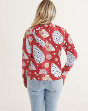 Load image into Gallery viewer, Red Christmas Women's Hoodie-cloth-PureDesignTees