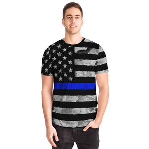 Support Our Police Blue Line Flag Unisex T-shirt-T-shirt-PureDesignTees