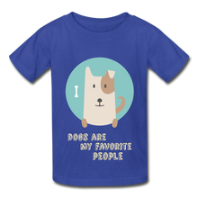 Load image into Gallery viewer, Dogs are My Favorite People Hanes Youth Tagless T-Shirt-Hanes Youth Tagless T-Shirt-PureDesignTees