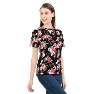Peony Floral Print Women's Tee-cloth-PureDesignTees