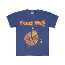 Load image into Gallery viewer, Feed Me Pizza Youth Regular Fit Tee-Kids clothes-PureDesignTees