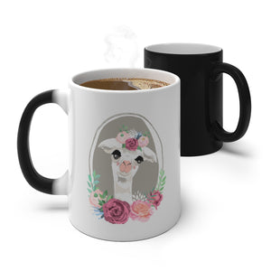 Decorated Llama Color Changing Mug, Mug - PureDesignTees