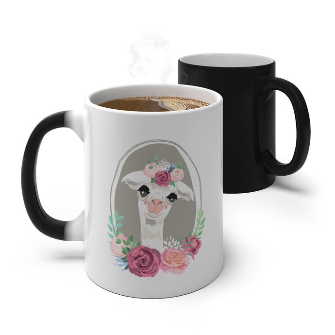 Decorated Llama Color Changing Mug-Mug-PureDesignTees