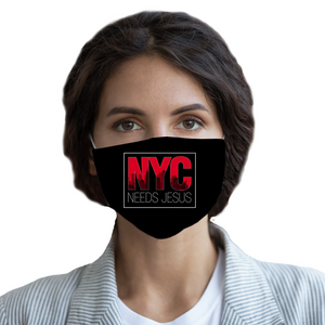 NYC Needs Jesus Face Mask-Apparel-PureDesignTees