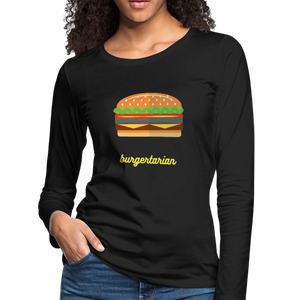 Burgertarian Women's Premium Long Sleeve T-Shirt-Women's Premium Long Sleeve T-Shirt-PureDesignTees