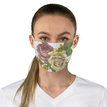 Load image into Gallery viewer, Roses Fabric Face Mask-Accessories-PureDesignTees
