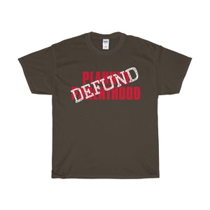 Defund Planned Parenthood Heavy Cotton T-Shirt-T-Shirt-PureDesignTees
