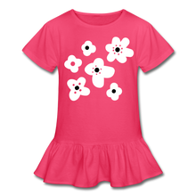 Load image into Gallery viewer, Floral Girl's Ruffle T-Shirt-Girl's Ruffle T-Shirt-PureDesignTees