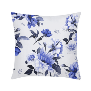 "Purple floral design Throw Pillow Case 18""x18""-home goods-PureDesignTees"