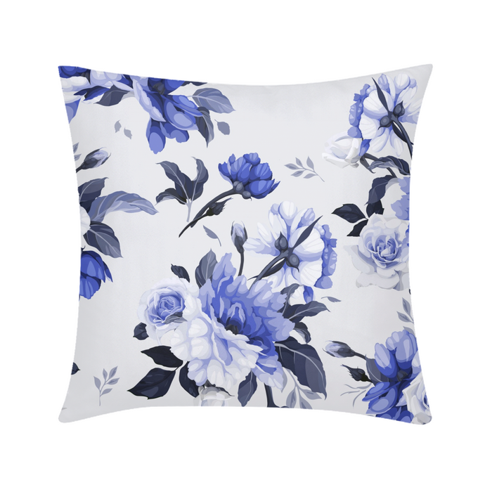 Purple floral design Throw Pillow Case 18