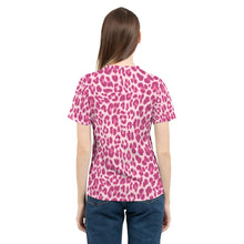 Load image into Gallery viewer, Animal Print Pink Combo Women's Tee-cloth-PureDesignTees