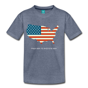 USA From Sea to Shining Sea Kids' Premium T-Shirt-Kids' Premium T-Shirt-PureDesignTees
