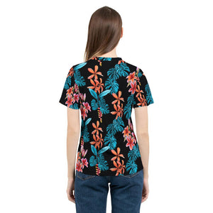 Tropical Floral Women's Tee-cloth-PureDesignTees