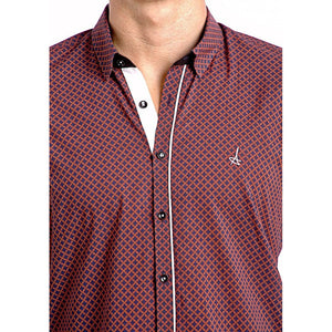 Scarlet Slim Fit Dress Shirt long sleeve-Men - Apparel - Shirts - Dress Shirts-PureDesignTees
