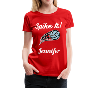 Spike It! Personalized Volleyball Women's Premium T-Shirt-Women's Premium T-Shirt-PureDesignTees