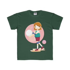 Girl Volleyball Player Youth Regular Fit Tee - PureDesignTees