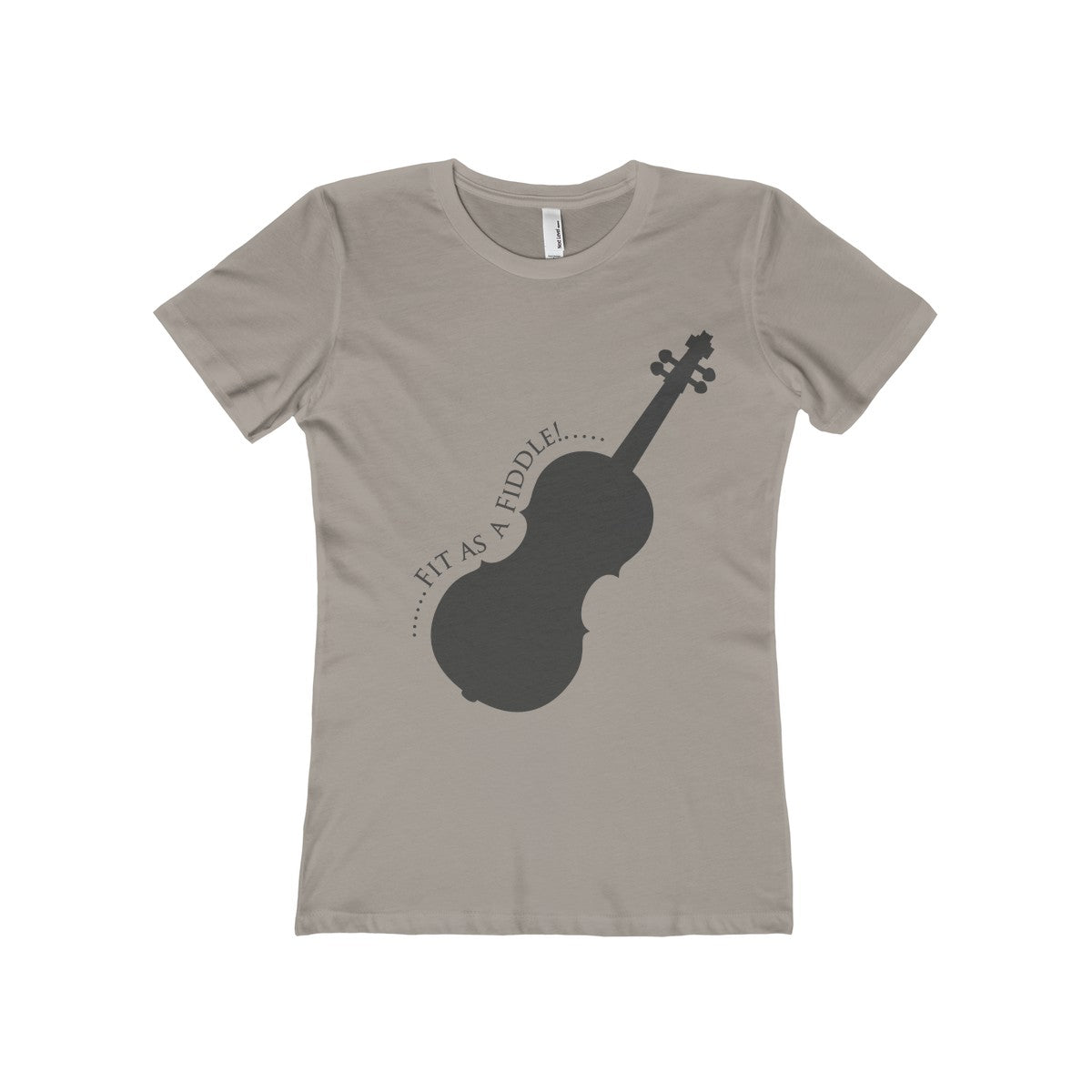 Fit as a Fiddle! Women's The Boyfriend Tee - PureDesignTees