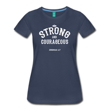 Load image into Gallery viewer, Be Strong and Courageous Joshua 1:7 Women's Premium T-Shirt-Women's Premium T-Shirt-PureDesignTees