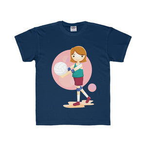 Girl Volleyball Player Youth Regular Fit Tee-Kids clothes-PureDesignTees