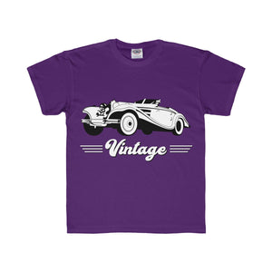 Vintage Car Hotrod Youth Regular Fit Tee, Kids clothes - PureDesignTees
