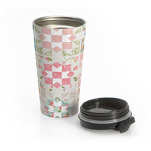 Load image into Gallery viewer, Quilt Patterns Stainless Steel Travel Mug-Mug-PureDesignTees
