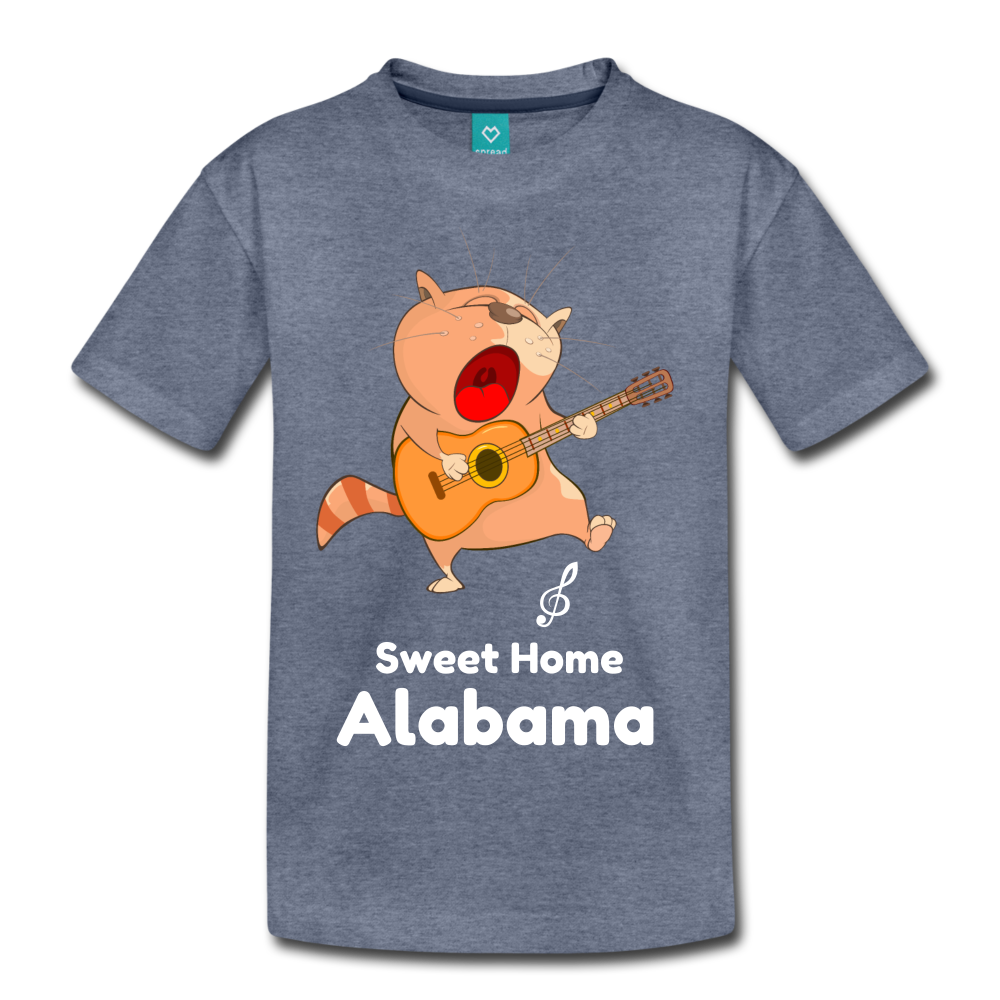 Cat Singing Sweet Home Alabama Kids' Premium T-Shirt-Kids' Premium T-Shirt-PureDesignTees