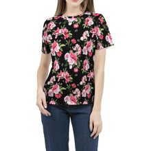 Load image into Gallery viewer, Peony Floral Print Women's Tee-cloth-PureDesignTees