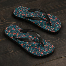 Load image into Gallery viewer, Floral Unisex Flip-Flops-Shoes-PureDesignTees