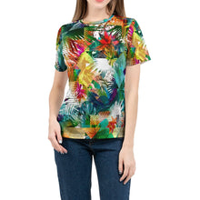 Load image into Gallery viewer, Tropical Color Riot Women's All Over Print Tee-cloth-PureDesignTees