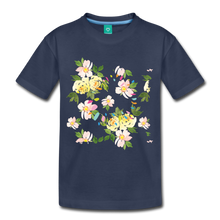 Load image into Gallery viewer, Floral Girl's Premium T-Shirt-Kids' Premium T-Shirt-PureDesignTees