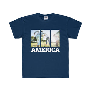 This is America - Children Running Kids Regular Fit Tee-Kids clothes-PureDesignTees