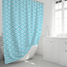 "Load image into Gallery viewer, Abstract Waves Shower Curtain 72""x72""-home goods-PureDesignTees"