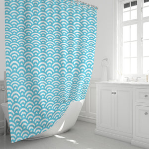 "Abstract Waves Shower Curtain 72""x72""-home goods-PureDesignTees"