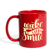 Load image into Gallery viewer, Wake Up and Smile Full Color Mug-Full Color Mug-PureDesignTees