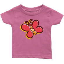 Load image into Gallery viewer, Butterfly Infant 100% Cotton T-Shirt-T-shirt-PureDesignTees