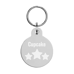 Personalized with Stars Engraved pet ID tag-Pet ID tag-PureDesignTees