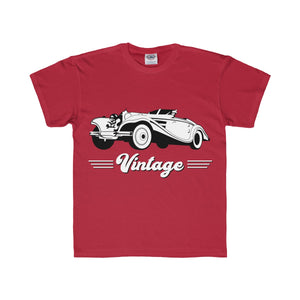 Vintage Car Hotrod Youth Regular Fit Tee-Kids clothes-PureDesignTees