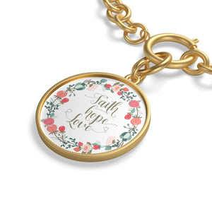 faith hope love Chunky Chain Bracelet-Accessories-PureDesignTees