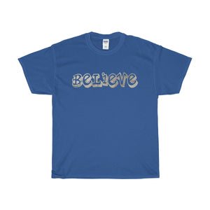 Believe Unisex Heavy Cotton Tee-T-Shirt-PureDesignTees