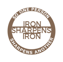 Load image into Gallery viewer, Iron Sharpens Iron (Proverbs) Steel Wall Art-Home & Garden-PureDesignTees