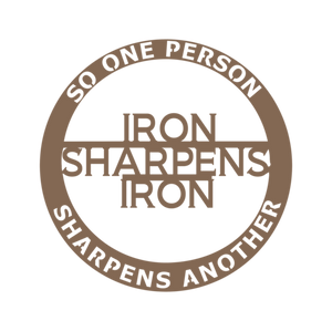Iron Sharpens Iron (Proverbs) Steel Wall Art-Home & Garden-PureDesignTees