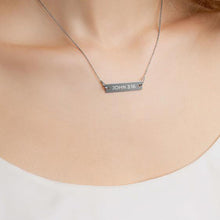 Load image into Gallery viewer, John 3:16 Engraved Silver Bar Chain Necklace-engraved Necklace-PureDesignTees