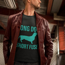 Load image into Gallery viewer, Long Dog Short Fuse Short-Sleeve Unisex T-Shirt-T-Shirt-PureDesignTees
