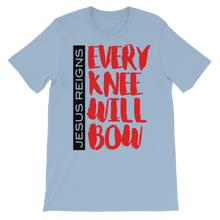 Load image into Gallery viewer, Jesus Reigns Every Knee Will Bow Unisex short sleeve t-shirt-T-Shirt-PureDesignTees