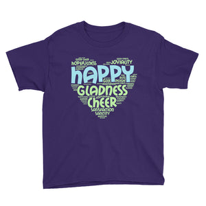 Happy Heart Youth Short Sleeve T-Shirt-T-shirt-PureDesignTees