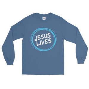 Jesus Lives Long Sleeve T-Shirt-Long sleeve t-shirt-PureDesignTees