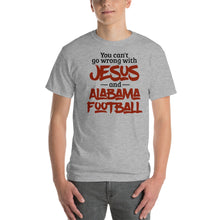 Load image into Gallery viewer, You Can't Go Wrong with Jesus and Alabama Football Short-Sleeve T-Shirt-t-shirt-PureDesignTees