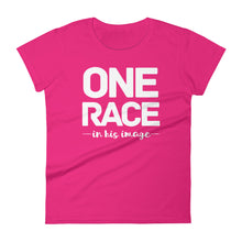 Load image into Gallery viewer, One Race in His Image Women's short sleeve t-shirt-PureDesignTees